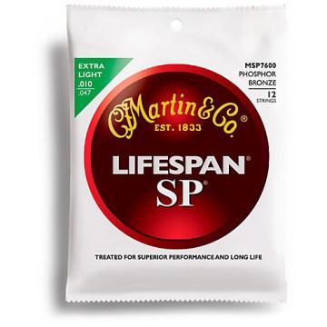 Martin MSP7600 12-String SP Lifespan Phosphor Bronze Extra Light Acoustic Guitar Strings