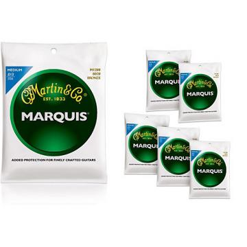 Martin M1200 Marquis 80/20 Bronze Medium Acoustic Strings 6 Pack