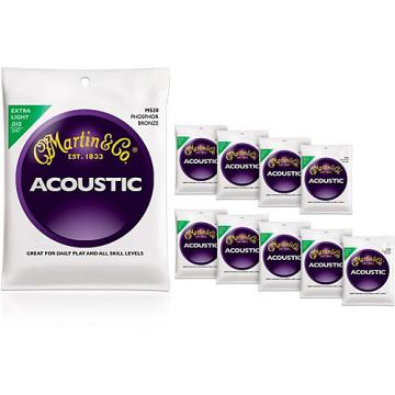 Martin M530 Phosphor Bronze Extra Light 10-Pack Acoustic Guitar Strings