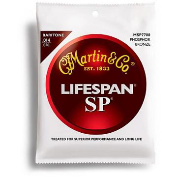 Martin MSP7700 SP Lifespan Phosphor Bronze Baritone Acoustic Guitar Strings