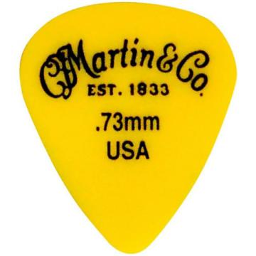 Martin Standard Delrin Guitar Pick Yellow 73mm 72 Pieces