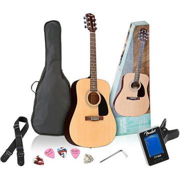 Fender FA-100 Dreadnought Acoustic Guitar Pack Natural