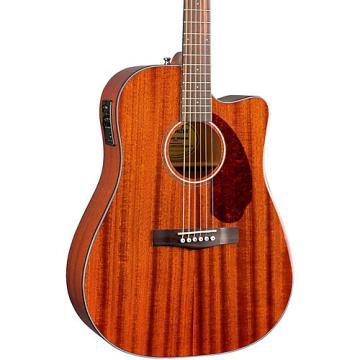 Fender Classic Design Series CD-140SCE Mahogany Cutaway Dreadnought Acoustic-Electric Guitar Natural