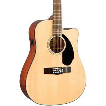 Fender Classic Design Series CD-60SCE-12 Cutaway Dreadnought 12-String Acoustic-Electric Guitar Natural
