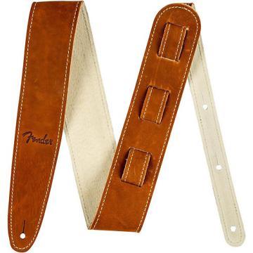 Fender Ball Glove Leather Guitar Strap Brown