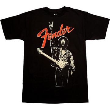 """Fender Jimi Hendrix """"Peace Sign"""" T-Shirt Black Small"""