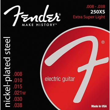 Fender 250XS Super 250 Nickel-Plated Steel Electric Guitar Strings - Extra Super Light