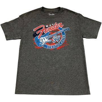 Fender Patriotic Strat T Shirt Small Gray