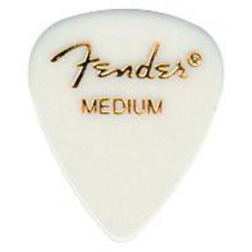 Fender Flat Standard Picks White Medium - 2 Dozen