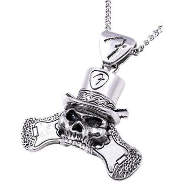 Fender King Baby Top Hat Skull Necklace