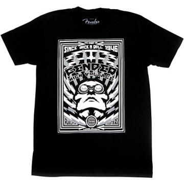 Fender High Voltage T-Shirt Black Medium