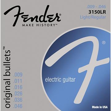 Fender 3150LR Original 150 Pure Nickel Bullet-End Electric Guitar Strings - Light
