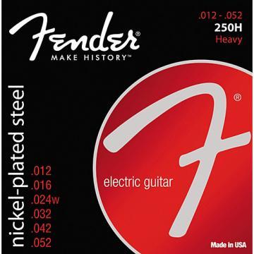 Fender 250H Super 250 Nickel-Plated Steel Electric Guitar Strings - Heavy
