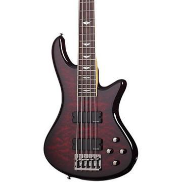 Schecter Guitar Research Stiletto Extreme-5 5-String Bass Black Cherry