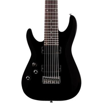 Schecter Guitar Research OMEN-8 Left-Handed Electric Guitar Black