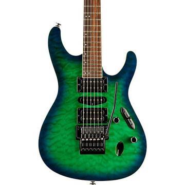 Ibanez S Prestige S6570Q 6 string Electric Guitar Surreal Blue Burst Gloss