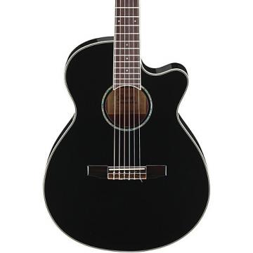 Ibanez AEG10NII Nylon String Cutaway Acoustic-Electric Guitar Black