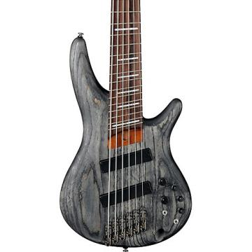 Ibanez SRFF806 Multi-Scale Six-String Electric Bass Guitar Black Stained