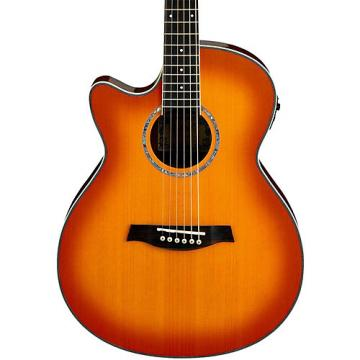 Ibanez AEG18LII Cutaway Left-Handed Acoustic Electric Guitar Vintage Violin Sunburst