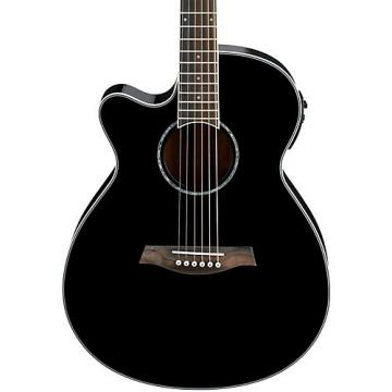Ibanez AEG10LII Lefty Cutaway Acoustic-Electric Guitar Black