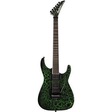 Jackson Custom Select Soloist Electric Guitar Black Green Crackle