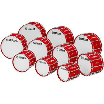 "Yamaha 16"" x 14"" 8300 Series Field-Corps Marching Bass Drum Red Forest"