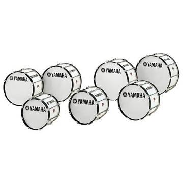 Yamaha Power-Lite Marching Bass Drum White Wrap 28x14