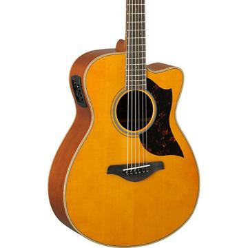 Yamaha A-Series AC1M Cutaway Concert Acoustic-Electric Guitar Vintage Natural