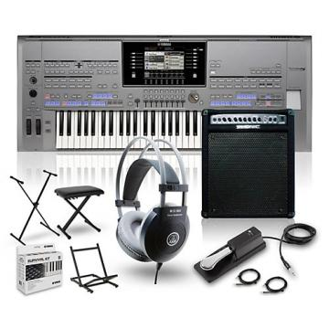 Yamaha Tyros5-61 with Keyboard Amplifier, Headphones, Bench, Stand, and Sustain Pedal