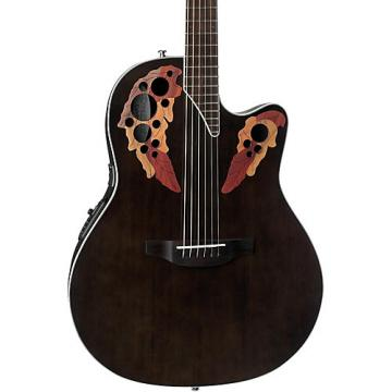 Ovation CE48 Celebrity Elite Acoustic-Electric Guitar Transparent Black