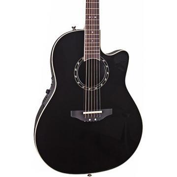 Ovation Standard Balladeer 2771 AX Acoustic-Electric Guitar Black
