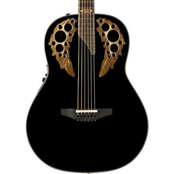 Ovation 1678AV50-5 50th Anniversary Custom Elite Shallow Acoustic-Electric Guitar Gloss Black