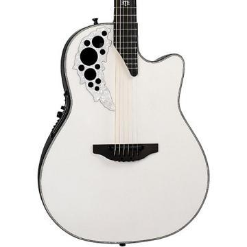 Ovation 2078ME-6P Melissa Etheridge Signature Acoustic-Electric Guitar Pearl White