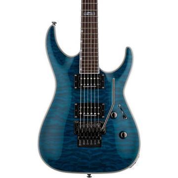 ESP LTD MH-401QM Electric Guitar See-Thru Blue