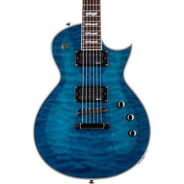 ESP LTD EC-401QMV Electric Guitar See-Thru Blue