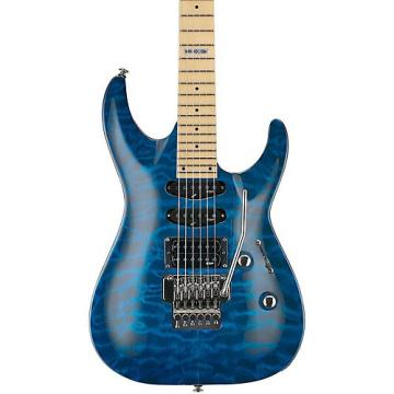 ESP LTD MH-103 Quilted Maple Electric Guitar See-Thru Blue