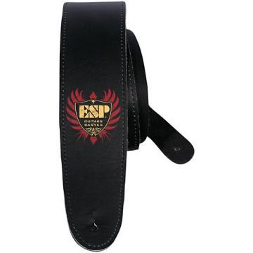 "ESP 2.5"" Leather Strap ESP Shield Logo"