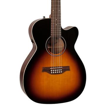 Seagull S12 Spruce Sunburst Cutaway Concert Hall QIT Acoustic-Electric Guitar Sunburst
