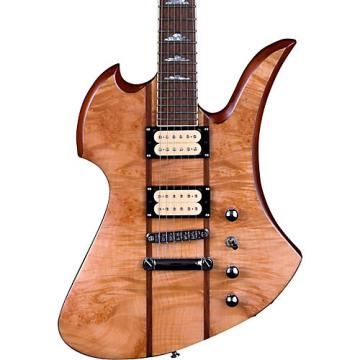 B.C. Rich Mockingbird Neck Through with Walnut Burl Top and Dimarzios Electric Guitar Gloss Natural