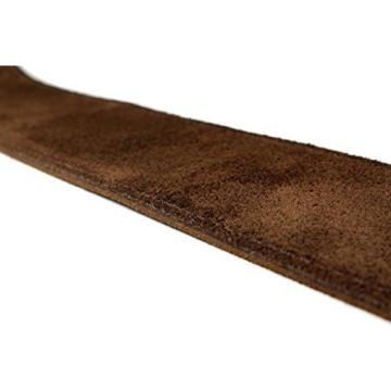 LeatherGraft Walnut Brown Genuine Suede Style 3 Inch Wide Guitar Strap - Suitable for All Electric, Acoustic, Classical & Bass Guitars