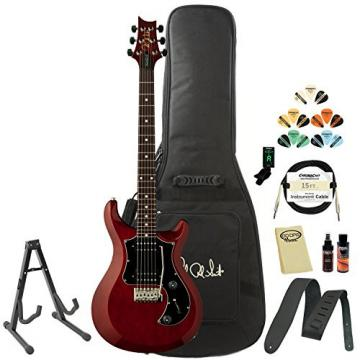 PRS D2TD03VC S2 Standard 22 Vintage Cherry Electric Guitar with Gig Bag, Stand, Tuner, Picks, Cable, Strap, Cloth, Polish and Cleaner