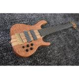 Custom 6 String Quilted Ken Smith Bass Red LED Inlay and Side Markers