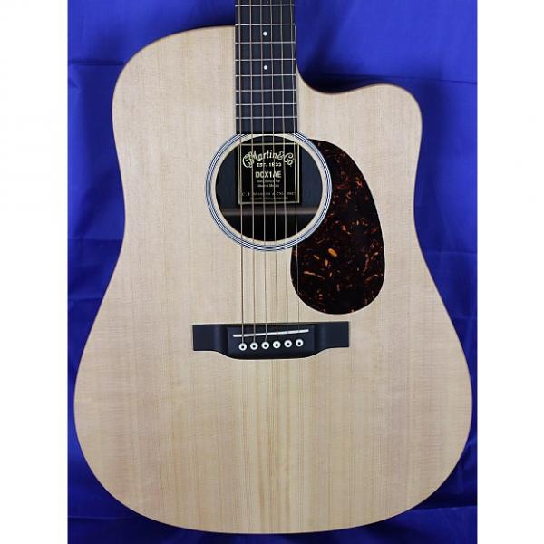 Custom Martin DCX1AE Mahogany Cutaway Acoustic Electric Guitar w/ Fishman Sonitone Natural #1 image