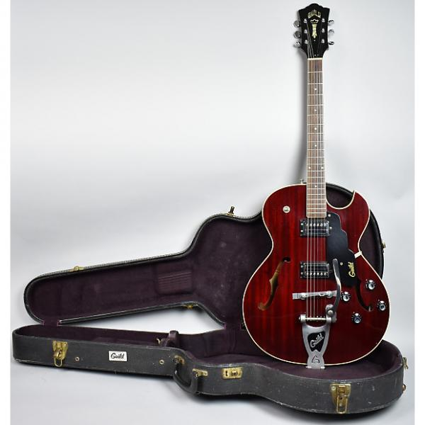 Custom 1972 Guild Starfire III Vintage Archtop Hollow Electric Guitar Cherry Red OHSC #1 image