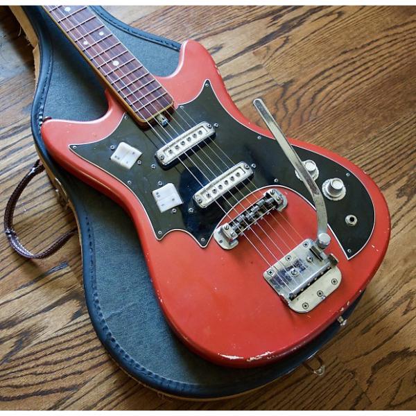 Custom 1968 Truetone 300T Kay Kawai Electric Guitar w/ Vintage Case #1 image