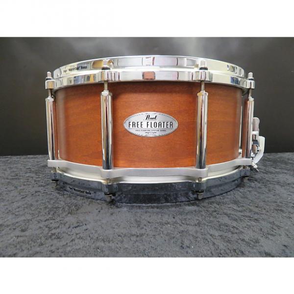 "Custom Pearl 6.5""x14"" Free Floating Maple Mahogany Snare Drum #1 image"