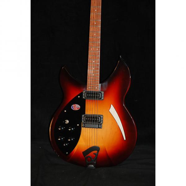 Custom Rickenbacker 330 Left Handed 2016 AMBER MONTEZUMA BROWN #1 image