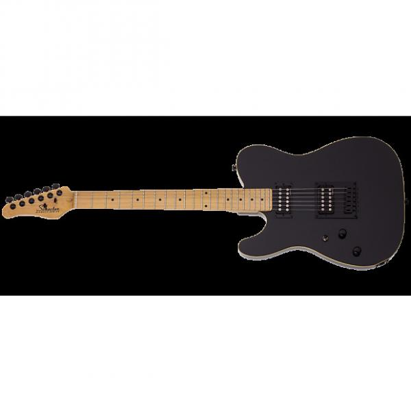 Custom Schecter PT Left-Handed Electric Guitar in Gloss Black Finish #1 image