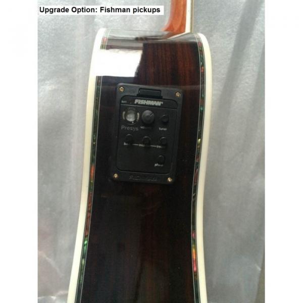 Custom Shop Martin D45 Tobacco Burst Acoustic Guitar Sitka Solid Spruce Top With Ox Bone Nut & Saddler #2 image