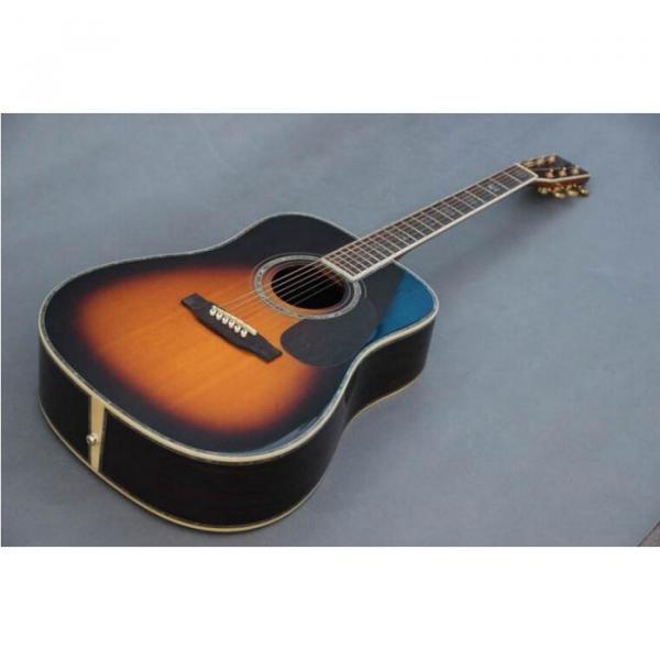 Custom Shop Martin D45 Tobacco Burst Acoustic Guitar Sitka Solid Spruce Top With Ox Bone Nut & Saddler #3 image